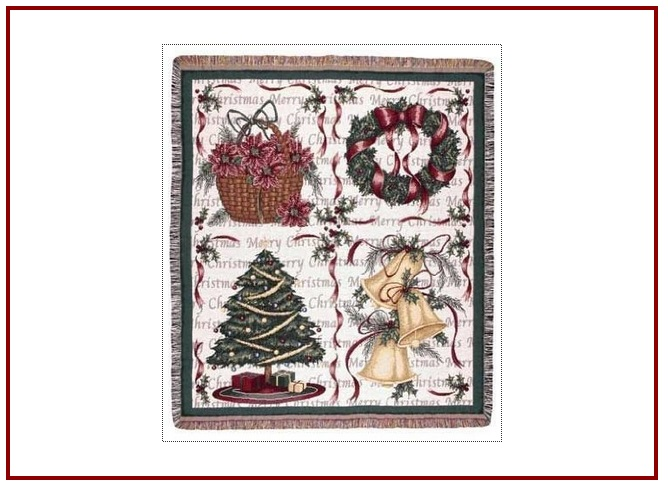 Christmas Decorations throw