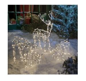 Pre-lit Deer Yard Art