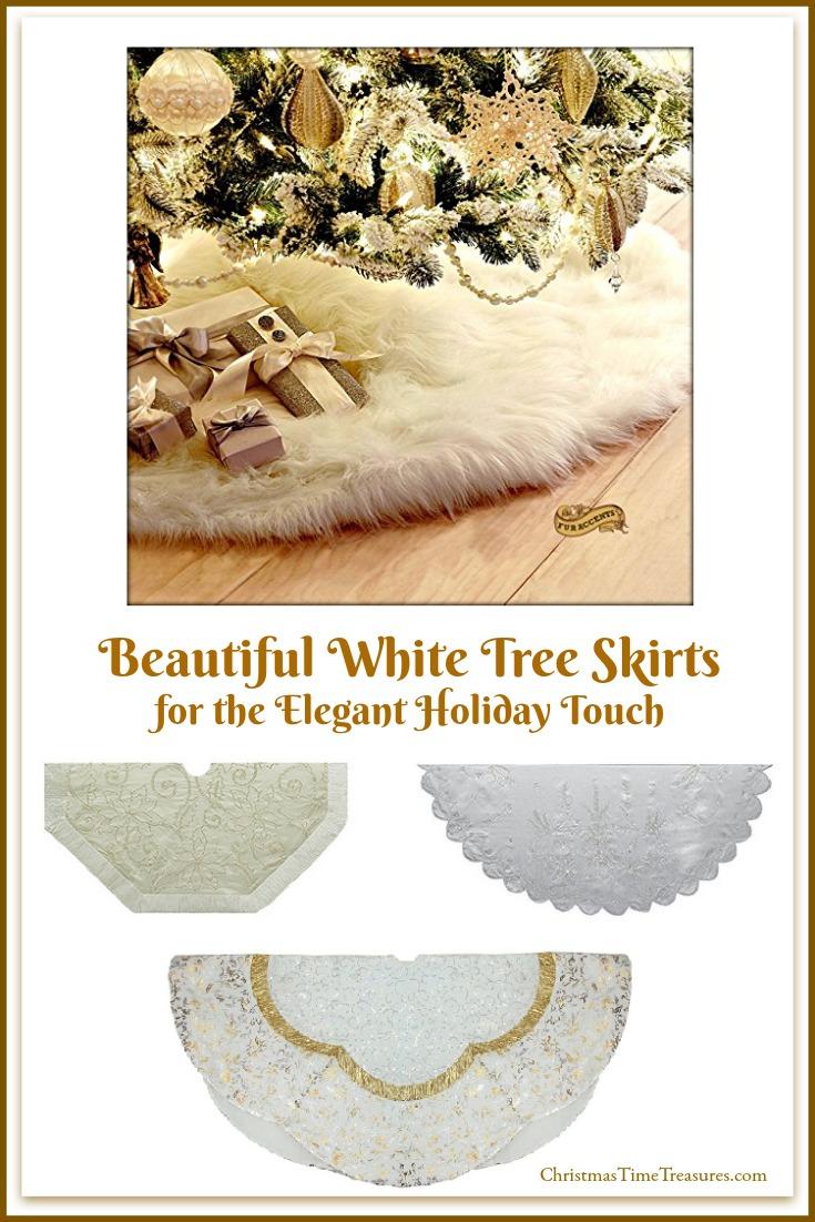 White Christmas Tree Skirts