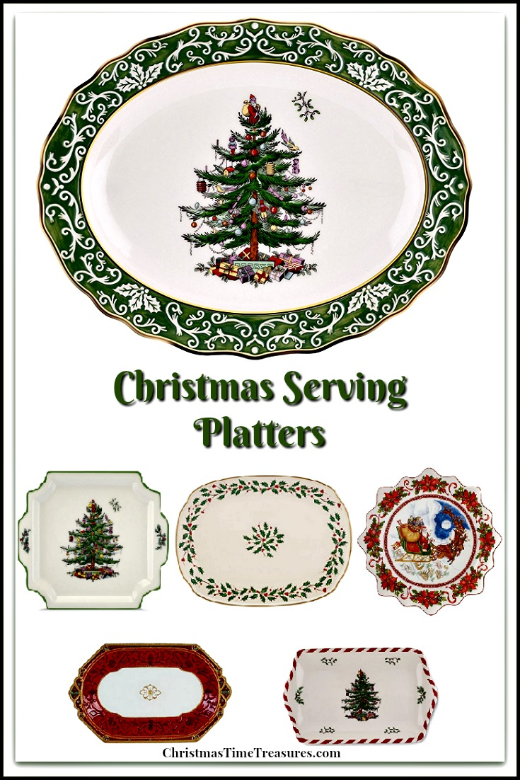 Christmas Platters And Trays.Beautiful Christmas Serving Platters