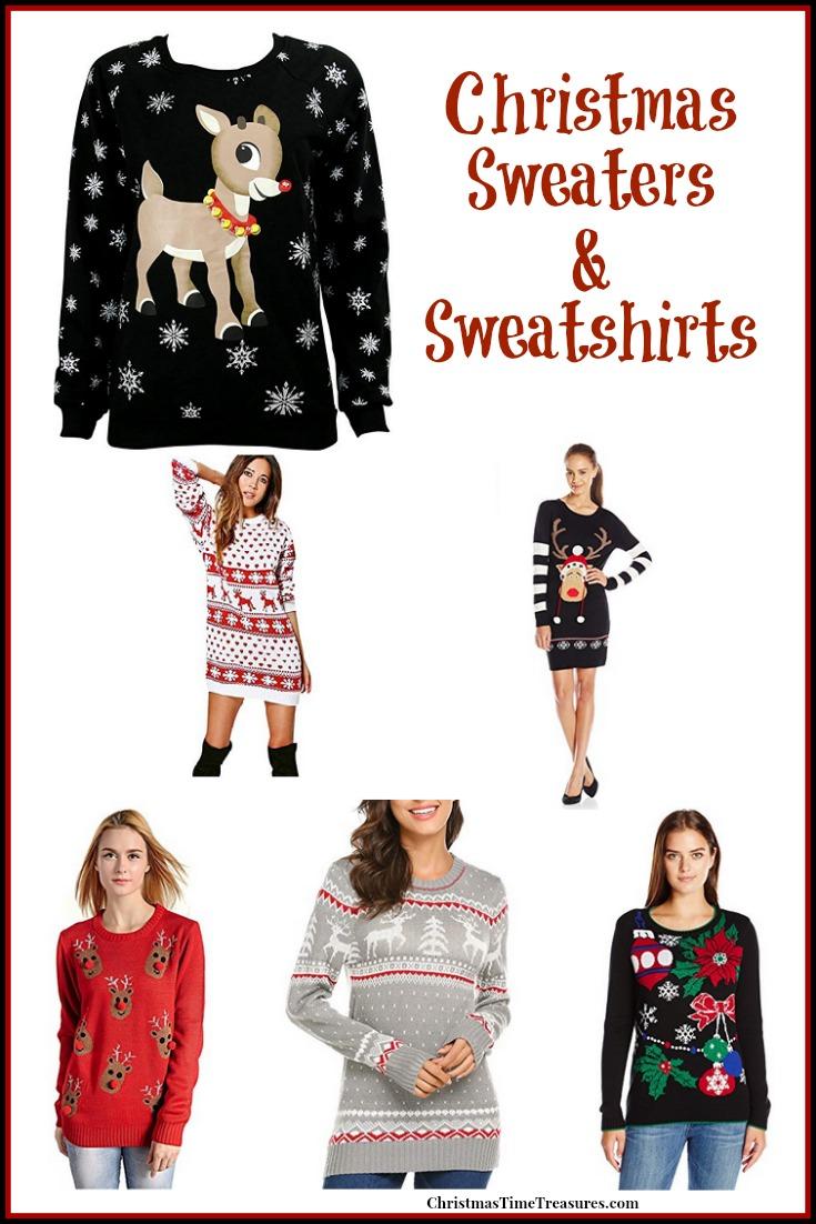 Holiday Sweaters & Sweatshirts
