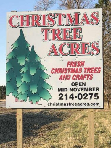 Christmas Tree Acres - Sign near Harrisburg, SD