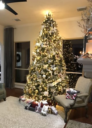 elegant christmas living room decor corner sofa set designs for tree decorating ideas from balsam hill in silver and gold