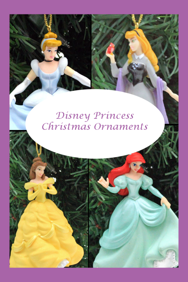 Gorgeous selection of Disney Princess Christmas ornaments
