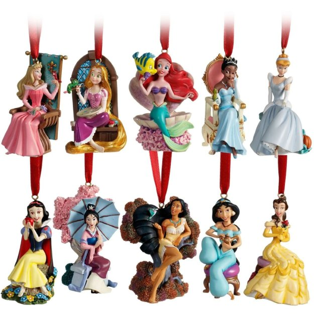 Exclusive 10 piece 2011 Disney Princess Christmas Ornament Set