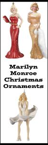 Marilyn Monroe Christmas Ornaments