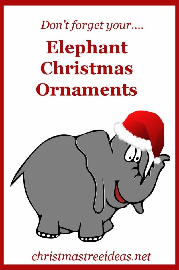 Elephant Christmas Ornaments