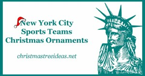 New York City Sports Teams Christmas Ornaments