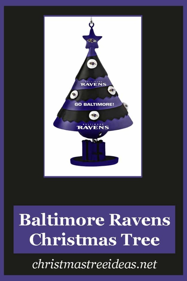 How to create a Baltimore Raven's Christmas Tree
