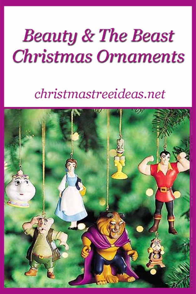 Beauty & the Beast Christmas Ornaments - a lovely Disney Princess Christmas ornament idea