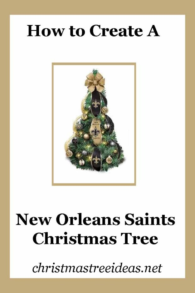 New Orleans Saints Christmas Tree