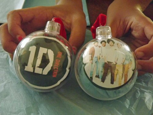 homemade one direction christmas ornaments