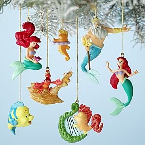 The Little Mermaid Christmas tree ornaments