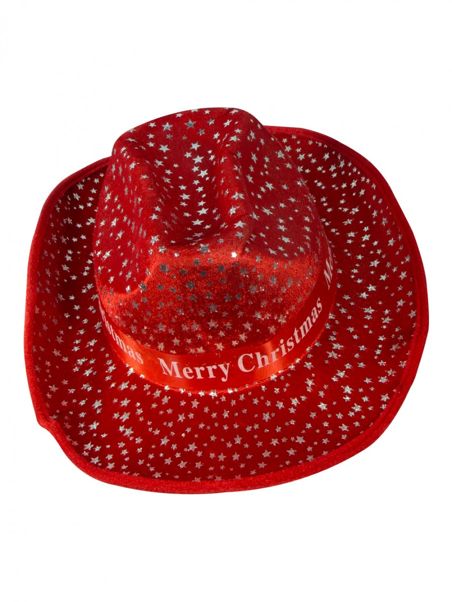 Merry Christmas Cowboy Hat 36cm Santa Hats Suits Amp Stockings Buy Online From The