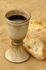 We celebrate Communion in Worship on Sunday morning--please join us!