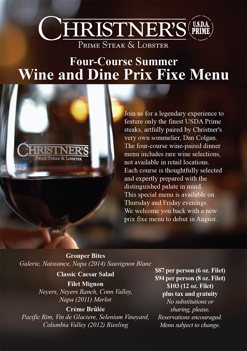 Summer Wine and Dine Four-Course Menu