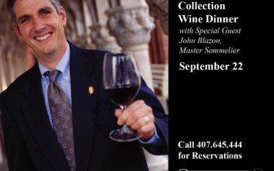 The Spire Collection Wine Dinner with Special Guest John Blazon, Master Sommelier
