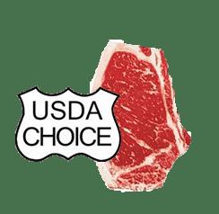 USDA choice steak and emblem