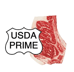 USDA prime steak and emblem