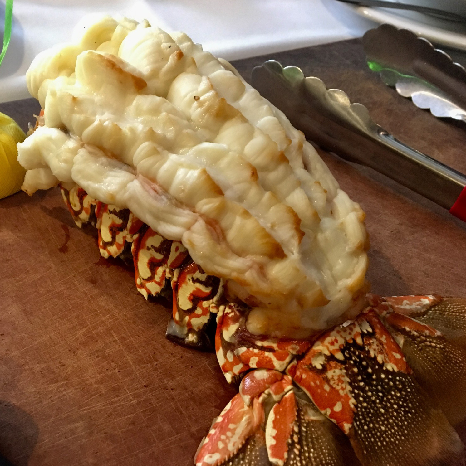 Cold water lobster tail dish