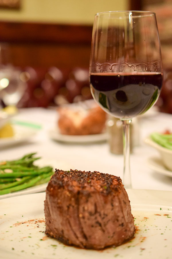 Christner's Merlot served with steak