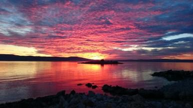 Novi Vinodolski Sonnenuntergang am Meer