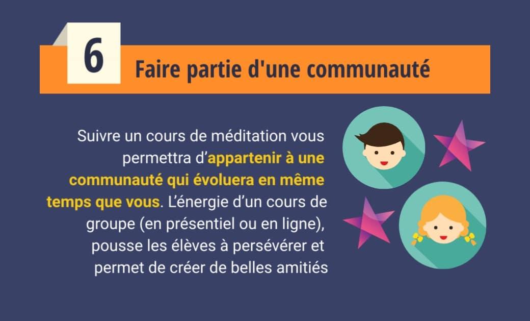 Cours de méditation - Faire partie d'une communauté