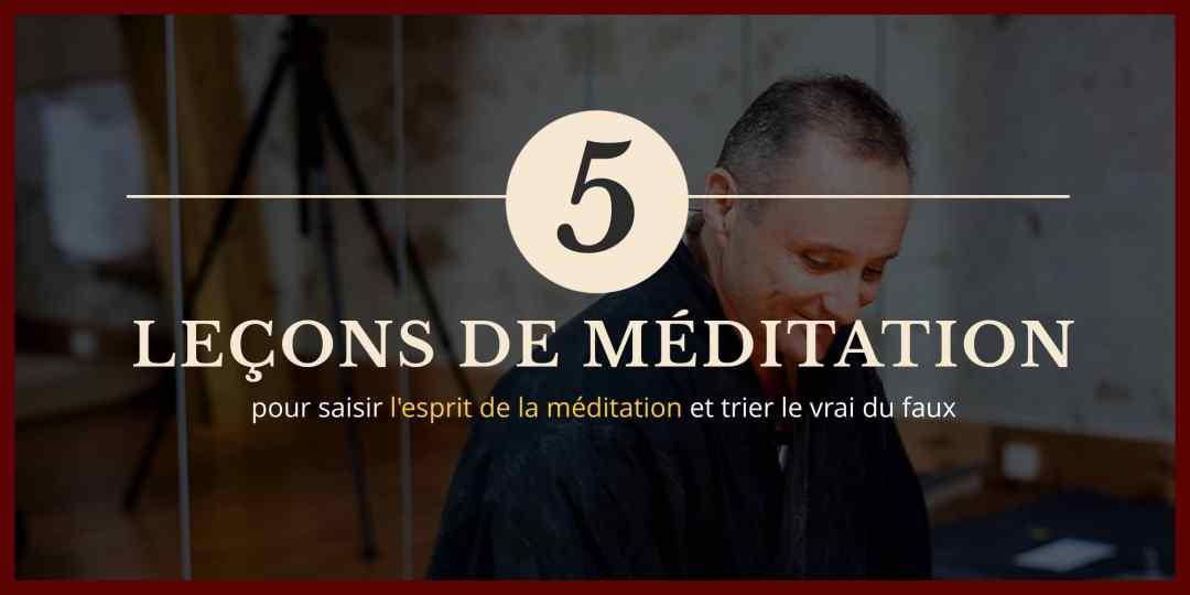 Couverture 5 leçons de méditation