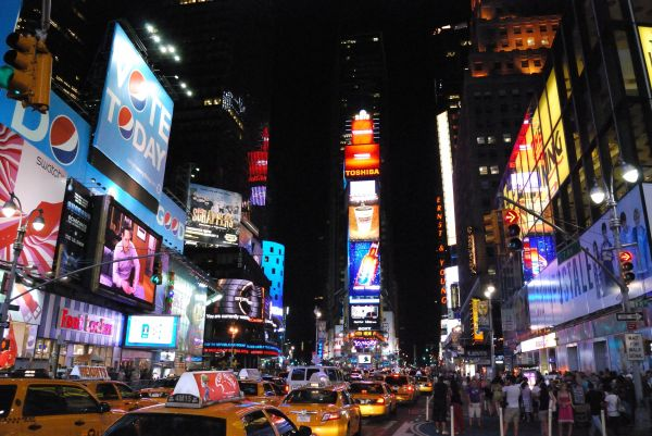 York Times Square La Nuit