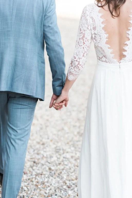 Couple de mariés de dos, Christophe Lefebvre Photographe