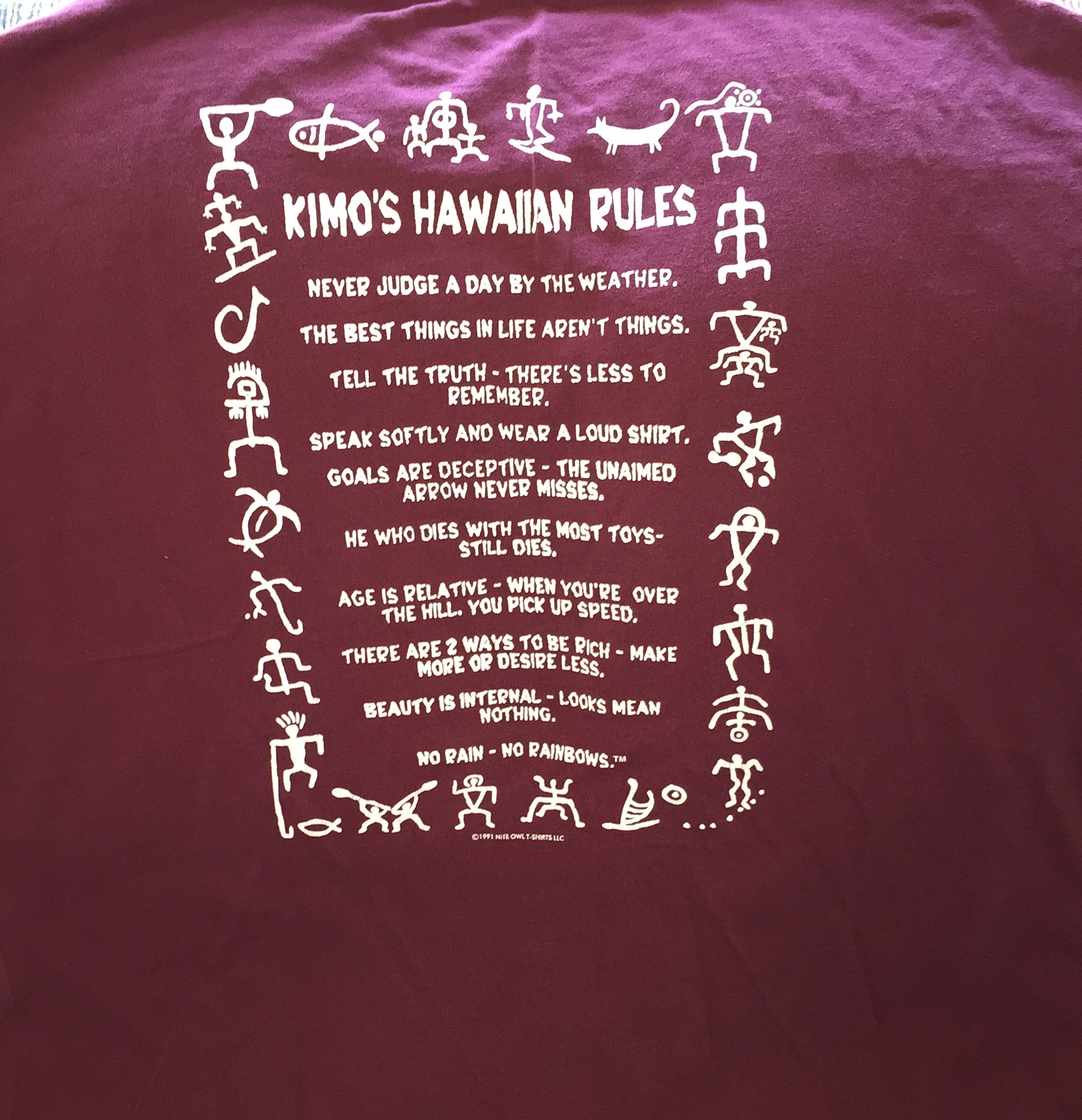 Kimo's Hawaiian Rules T-Shirt