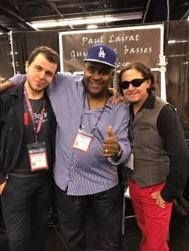 With fellow Lairat artists Robert Harper and Duran