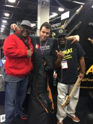 At the LoPHAT booth with Gregory Williams and Rico Cobin