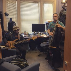 Victor Wooten & Steve Bailey just casually jamming out in Steve's office