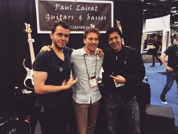 With Paul Lairat and Brazilian bass player Paulo Several