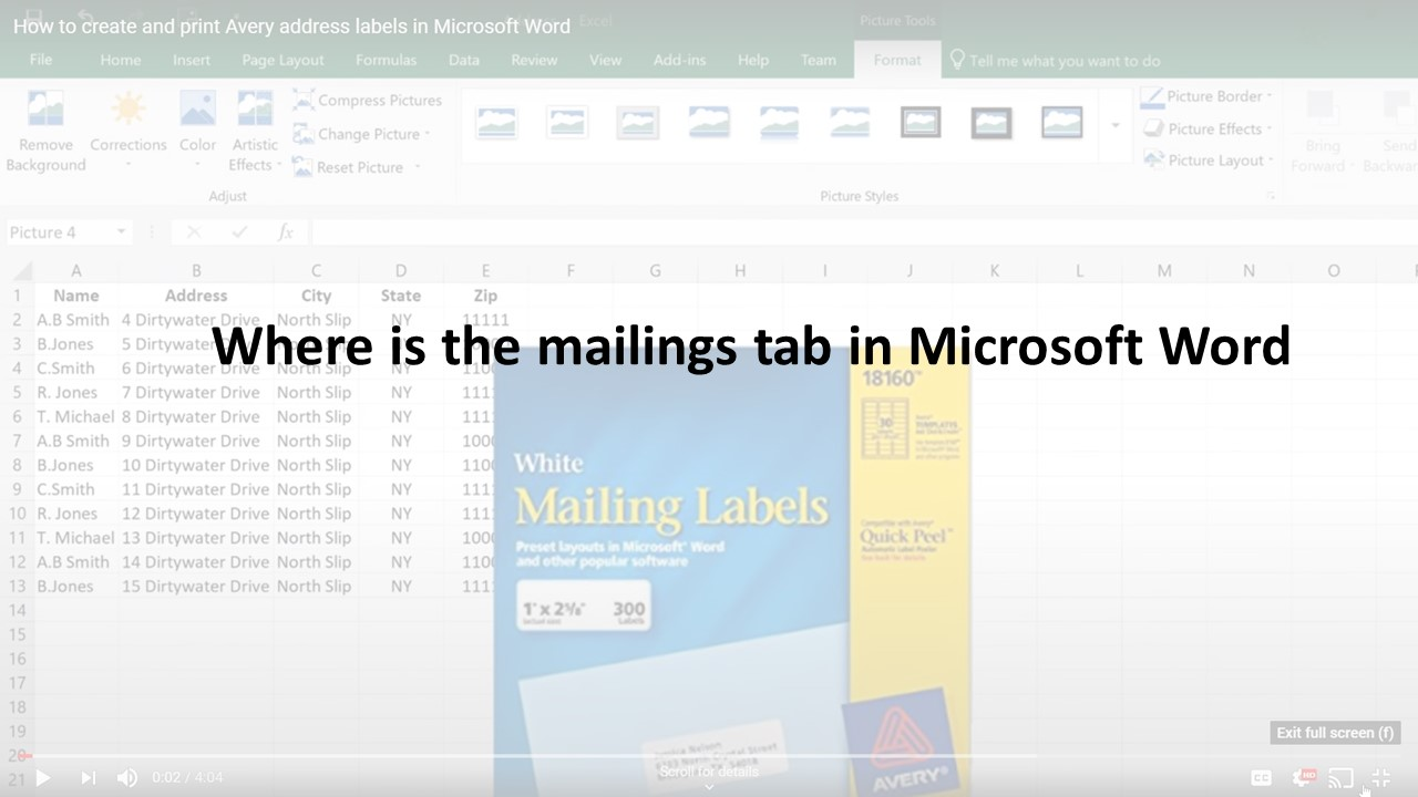 I can't find the  mailings tab in Microsoft Word!