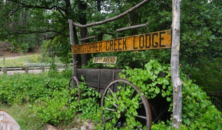 Lodge Wagon in Christopher Creek