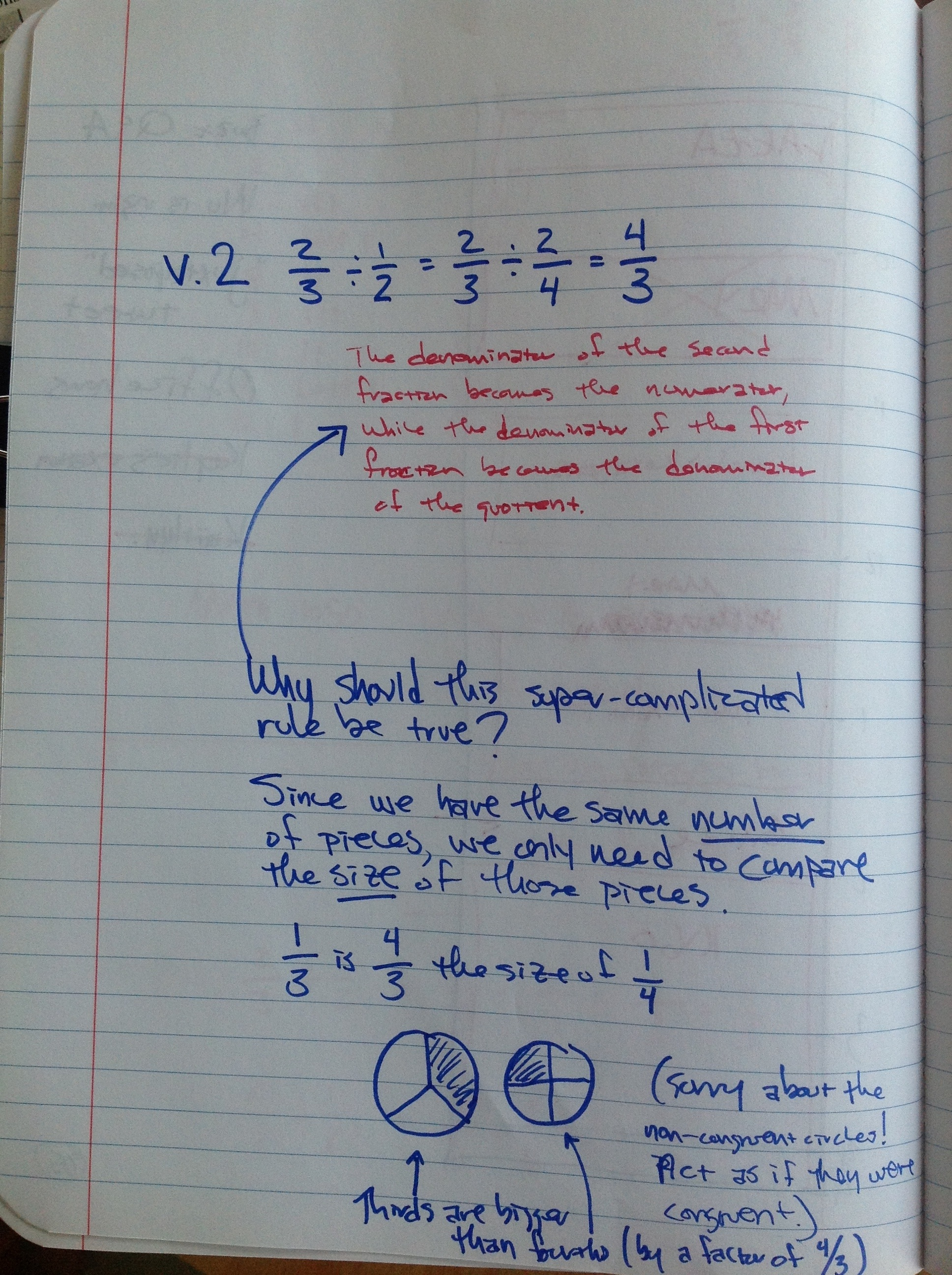 Common Numerator Fraction Division Algorithmchat