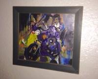 Prince, purple rain - acrylic painting