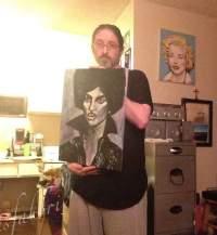 Prince portrait painting by Chris Fabbri art studio Spring 2016