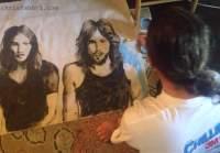 Pink Floyd, acrylic portrait painting by Chris Fabbri 2016