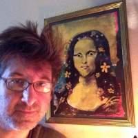 Mona Lisa, acrylic on paper painted 2015