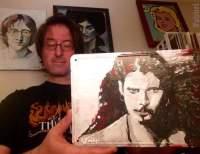 "2017 Chris Cornell, acrylic on metal 7""x10"""