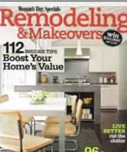 Women's Day Remodeling and Makeovers Magazine included the Malibu as part of the hottest new bath looks with an angular edge to them.