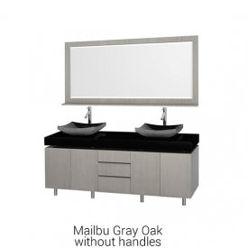 Malibu Gray Oak Without Handles | Available Sizes 48″