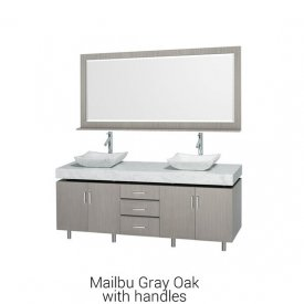 Malibu Gray Oak With Handles | Available Sizes: 48″