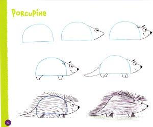 drawing shape animals step easy cartoon hart christopher books fun