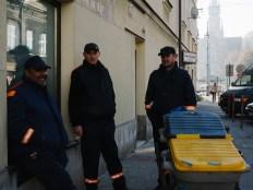 street cleaners in Krakow
