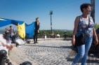 On top of the high castle in Lviv