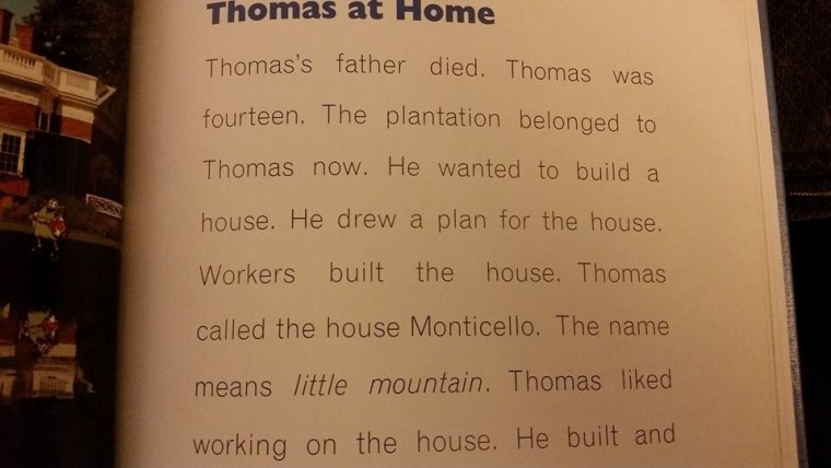 """""""Thomas at Home"""" section of Thomas Jefferson biography"""